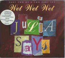 WET WET WET - JULIA SAYS 1995 UK CD2 FOLDOUT DOUBLE DIGIPAK W/ POSTCARDS JWLDD24