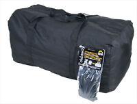Super Lightweight Large Foldaway Holdall Strong Nylon Handbag Travel Black Bag
