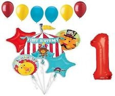 Fisher Circus Monkey Lion Tiger Tent 1st First Birthday Party 12 Balloons Set