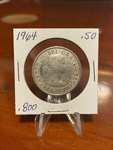 1964  CANADA  SILVER  HALF  DOLLAR  50 CENT PIECE  VERY NICE COIN