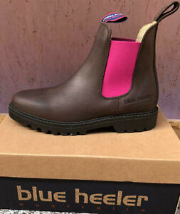 Blue Heeler Jackaroo, Boots, Stiefeletten, Chelseaboots, braun / pink , B-Ware
