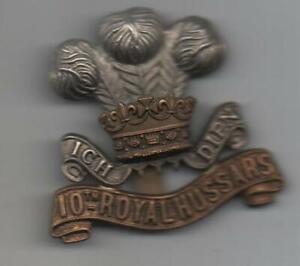 VICTORIAN THE 10TH HUSSARS CAP BADGE -