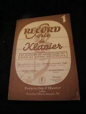 Partitur Record Serie Für Klavier N°1 Music -blatt