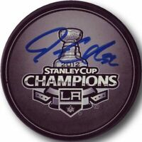 Jonathan Quick Hand Signed Autograph Los Angeles Kings Puck Stanley Cup LA Blue