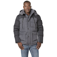 Men's Rocawear Hooded Parka with Contrast Sleeves Black/Charcoal 3XL #NJG1P-G4