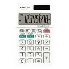 SHARP EL-244WB Pocket Calculator,LCD,8 Display Digits