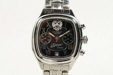 Russian Chronograph President mechanical watch Poljot 3133, black dial, square