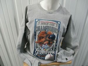 VINTAGE STARTER NEW YORK YANKEES 1998 AMERICAN LEAGUE CHAMPS XL SWEATSHIRT WS