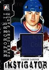 2013-14 ITG Enforcers Instigator Jersey Patches #11 Darren Langdon