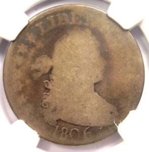 1806 Draped Bust Quarter 25C - NGC AG3 - Rare Early Certified Coin!