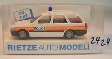 Rietze 1/87 50380 Ford Escort Turnier STATION WAGON POLIZIA POLICE GB Inghilterra OVP #2424
