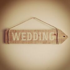 WEDDING SIGN WOOD Country Wedding Hand painted Decoration or Directional Sign