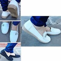 New Womens Ladies Loafer Moccasin Casual Smart Work Office Shoes Pumps Size 3-8
