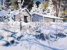 Charles L. Peterson PHANTOMS OF THE FOREST S/N C/E paper Lumberjack Logging art