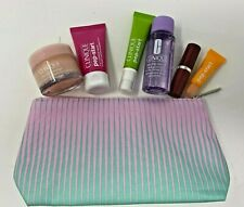 CLINIQUE 2020 - 7 Piece Gift Set with Pep-Start Trio, Lip Color and More - NEW