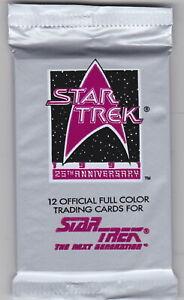 5 packs - 1991 Star Trek 25th Anniversary Packs Series 1 The Next Generation