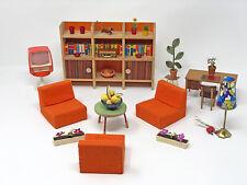 Konvolut Puppenmöbel Puppenstube Vintage 60er 70er Jahre Retro Wohnzimmer
