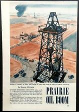 """""""Prairie Oil Boom"""" 1950 Canadian Oil Drilling pictorial Ledoc Imperial Oil"""