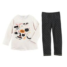 Mud Pie Girls Halloween Long Sleeve and Pant Set Size 5T