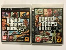 2 X COMPLETO SONY PLAYSTATION 3 PS3 Giochi Grand Theft Auto IV 4 + GTA 5 cinque V