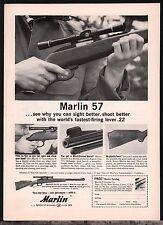 1963 MARLIN 57 Lever Action .22 Rifle AD Vintage Hunting Advertising Memorabilia