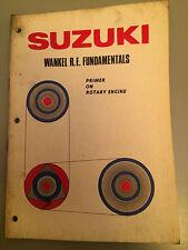 Suzuki RE5 Rotary Wankels Fundamentals Manual , very rare book, 1974 Re-Print