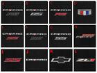 New Carpet Floor Mats 2016 - 2022 Chevy Camaro Embroidered Logo 2 Pc Set