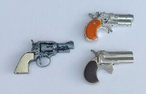 Three Vintage Toy Miniature Cap Guns inc: Lone Star, The Dandy & a Derringer