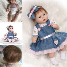 Realistico Doll 18'' Morbido Silicone Reborn Bambole Neonatale Regalo Natale Toy