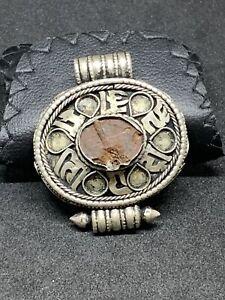Antique Silver Reliquary Tibetan Rare Artifact Brilliant Finding For Collection
