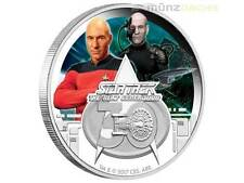 1 $ $ 30 Anni Star Trek The Next Generation Tuvalu 1 oncia d'argento PP 2017