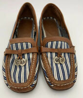 Etienne Aigner Nautical Navy/White Stripe Loafers Womens Size 7.5 Slip On Shoes