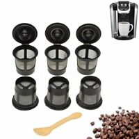 6 Pack K-Cup Reusable Replacement Coffee Filter Refillable Holder Pod for Keurig