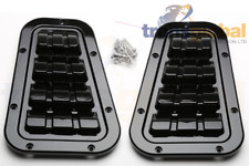 Gloss Black Wing Top Vents for Land Rover Defender Bearmach BA 9462