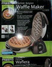 Presto 03510 Ceramic FlipSide Belgian Waffle Maker Black S4RBT-NO
