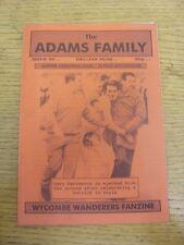 Dec-1995 Wycombe Wanderers: FANZINE-LA FAMIGLIA ADAMS EDIZIONE 20. grazie per la vista