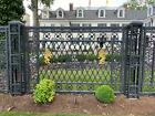 INCREDIBLE CAST IRON VICTORIAN STYLE ESTATE FENCING AND GATES - NHP20