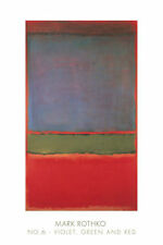 ABSTRACT ART PRINT - No. 6 (Violet, Green and Red), 1951 by Mark Rothko 24x36