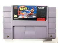Nickelodeon Guts SUPER NINTENDO SNES GAME Tested + Working & Authentic!
