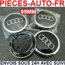 Lot 4 Centre Roue Cache Moyeu Logo Jante 69 mm AUDI Noir A3 A4 A5 A6 S3 S4 S