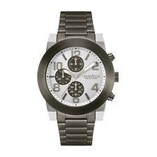 Caravelle New York Men's 45A127 Quartz Silver Chronograph Gunmetal 44mm Watch