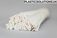 ASA Plastic welding rods (8mm) white, pack of 10 pieces  /flat strips shape/