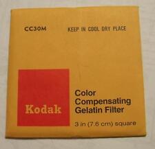 Kodak Color COMPENSADOR GELATINA Filtro N º CC30M 7.6cm OR 7.6cm Cuadrado
