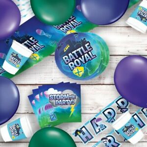 Battle Royal Gaming Party Tableware, Decorations and Balloons
