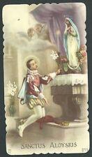 Estampa antigua de San Luis andachtsbild santino holy card santini
