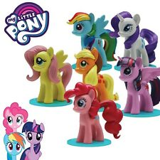 MY LITTLE PONY Complete Set 4 FIGURES for Collectors 3D FIGURINES with Base 2""