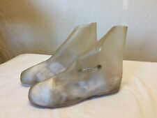 Vintage Clear Vinyl Over Shoes Ladies' High Heels Shoe Covers 8 flats principle