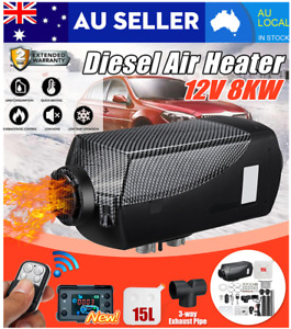 12V 5KW 8KW Diesel Air Heater 10L Tank Remote Control Thermostat Caravan Boat AU