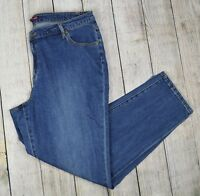 Jessica London Women Plus Straight Leg Jeans Pants Mid Rise Blue Size 20
