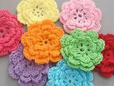 40 Handmade Crochet Flower Appliques Sewing Bow A136